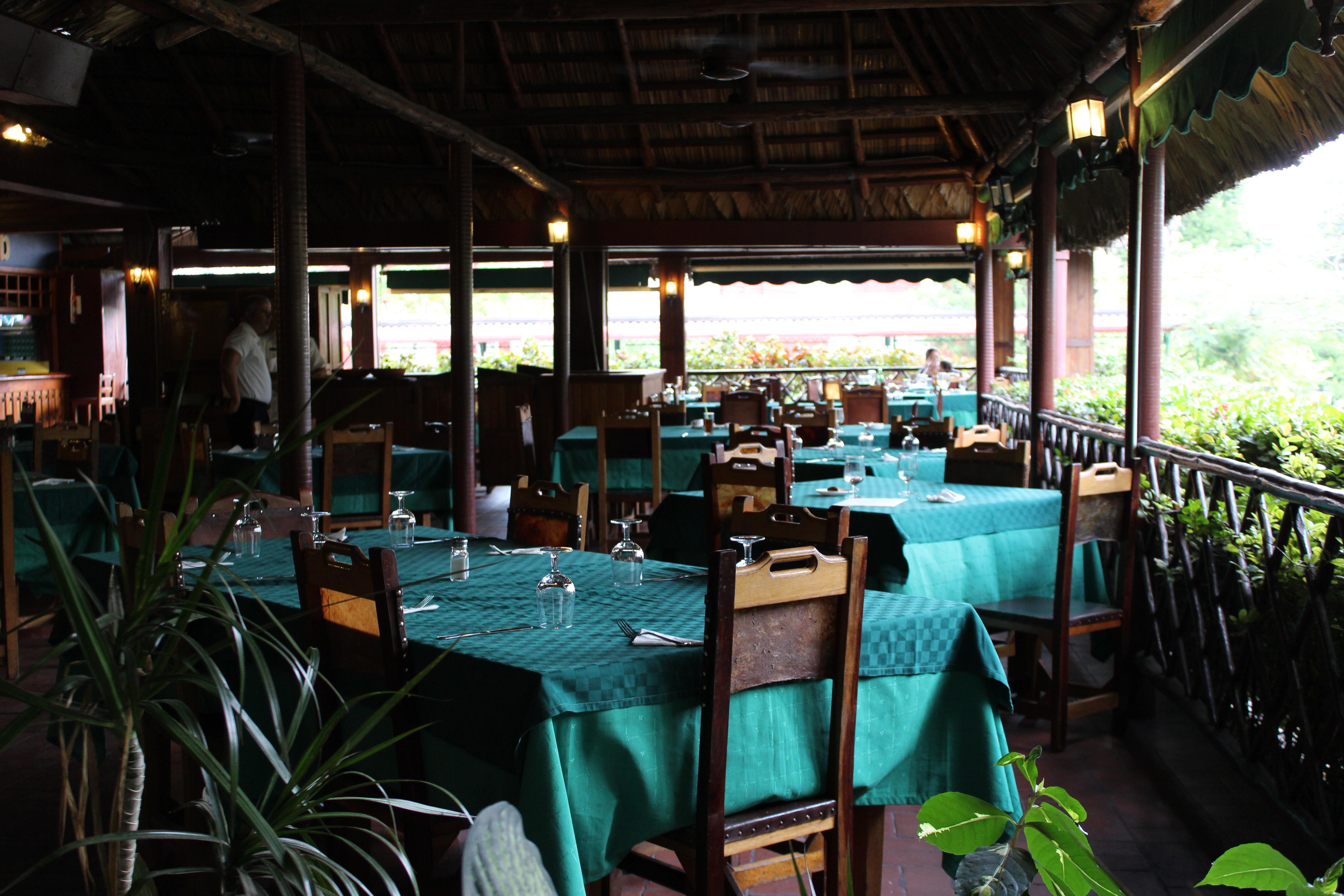 El Aljibe is an open air state-run Cuban restaurant.
