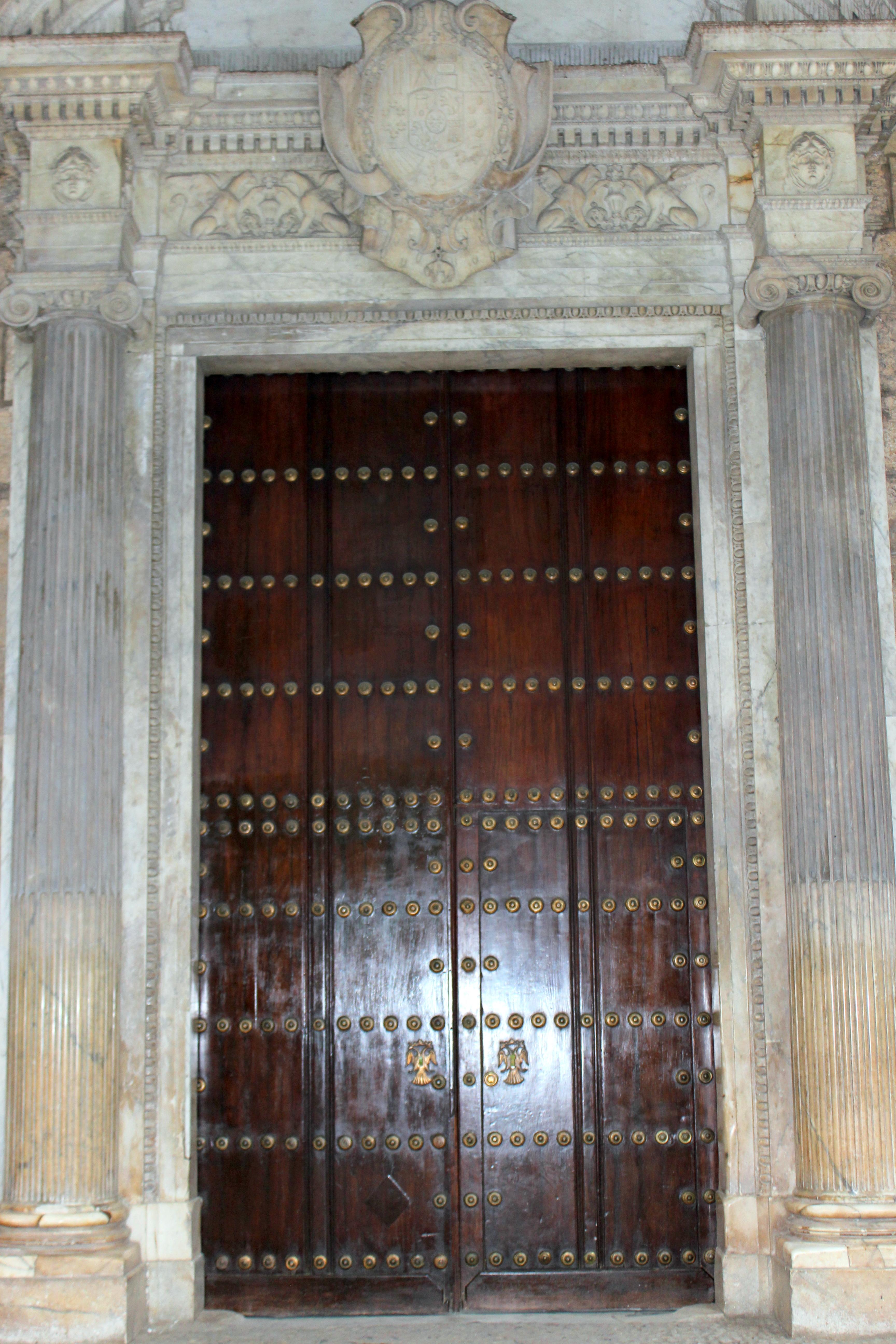The massive doors to Havana's Office of the City Historian.