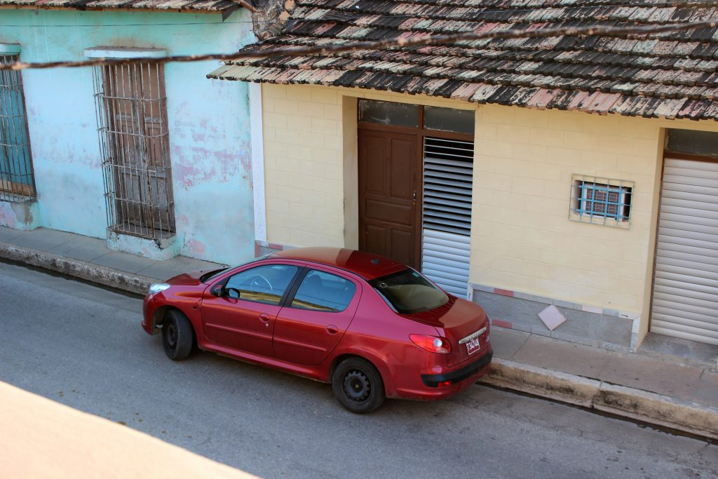 My rented car is parked across street from Casa Magaly for safe keeping.