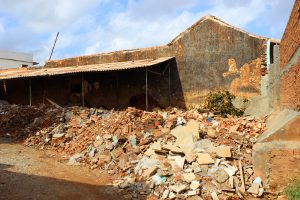 An image of a The pile of rubble is from a collapsed house, all too common in Cuba where homes suffer decades of neglect.